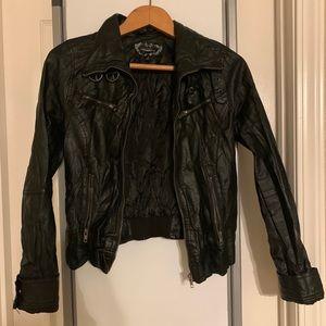 Faux leather jacket black size S